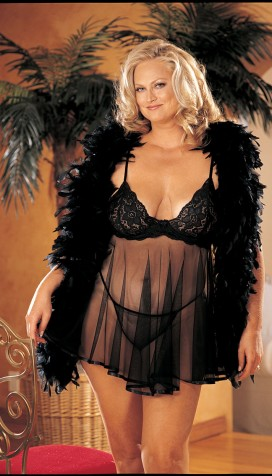 BACK BY POPULAR DEMAND, OUR BEAUTIFUL STRETCH LACE AND SHEER NET BABY DOLL