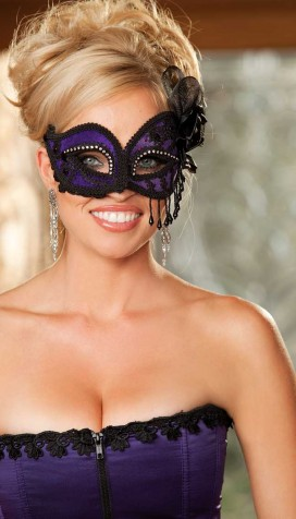 SATIN AND LACE EYE MASK